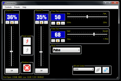 E-Stim Control direct from your PC